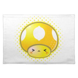 Kawaii Sour Lemon Mushroom Placemats