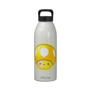 Kawaii Sour Lemon Mushroom Reusable Water Bottles