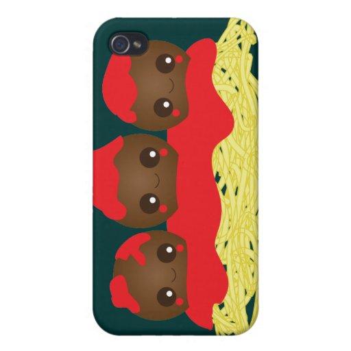 Kawaii Spaghetti Meatballs iPhone Case iPhone 4/4S Cover