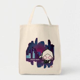 Kawaii Spider-Gwen City Skyline Tote Bag