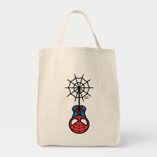 Kawaii Spider-Man Hanging Upside Down Tote Bag