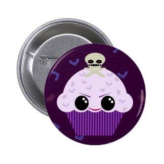 Kawaii Spooky Cupcake Skull Spiders Bats 6 Cm Round Badge