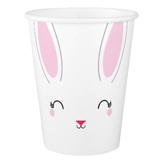 kawaii SPRING BUNNY birthday paper party cup