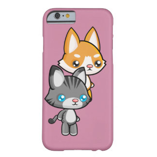 Kawaii Standing Cat and Dog Barely There iPhone 6 Case