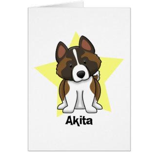 Kawaii Star Akita Card
