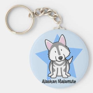 Kawaii Star Alaskan Malamute Keychains