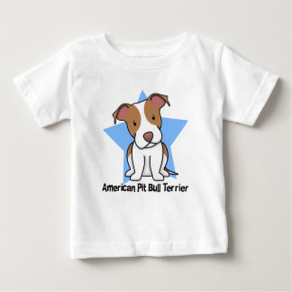 Kawaii Star American Pit Bull Terrier Baby's Baby T-Shirt