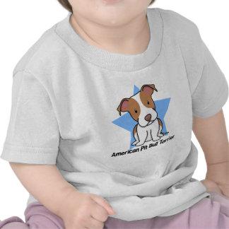 Kawaii Star American Pit Bull Terrier Baby's Tshirt