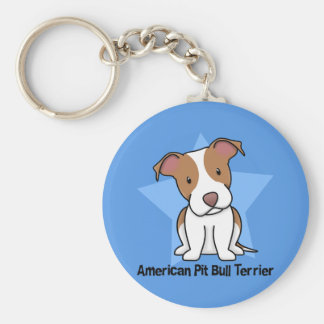 Kawaii Star American Pit Bull Terrier Keychains