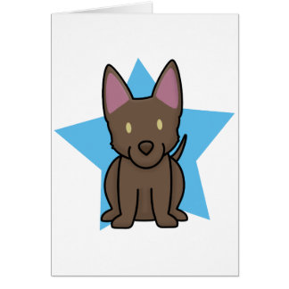 Kawaii Star Australian Kelpie Card