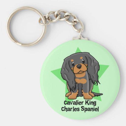 Kawaii Star B&T Cavalier King Charles Spaniel Keychain