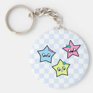 KAWAII STAR BABIES BABY STARS BASIC ROUND BUTTON KEY RING