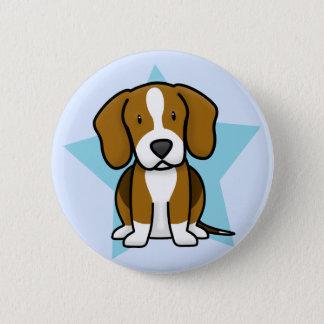 Kawaii Star Beagle Button