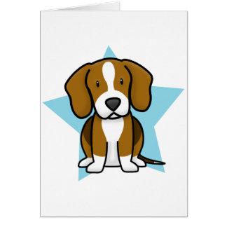 Kawaii Star Beagle Card