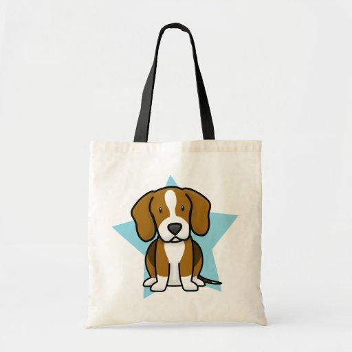 Kawaii Star Beagle Tote Bag