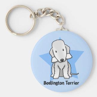 Kawaii Star Bedlington Terrier Basic Round Button Key Ring