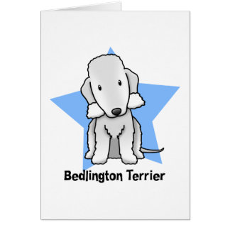 Kawaii Star Bedlington Terrier Card