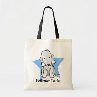 Kawaii Star Bedlington Terrier Budget Tote Bag
