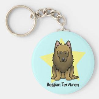 Kawaii Star Belgian Tervuren Keychain