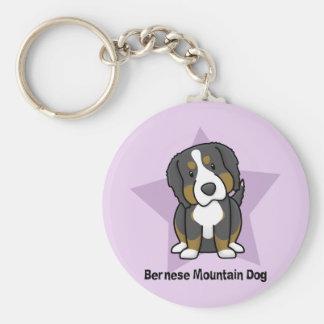 Kawaii Star Bernese Mountain Dog Keychain