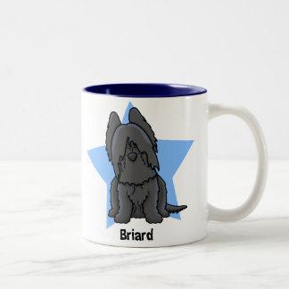 Kawaii Star Black Briard Coffee Mugs