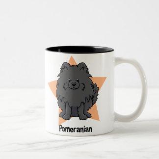 Kawaii Star Black Pomeranian Mugs