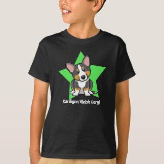 Kawaii Star Black & Tan Cardigan Welsh Corgi T-Shirt
