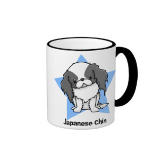 Kawaii Star Blk Japanese Chin Ringer Coffee Mug