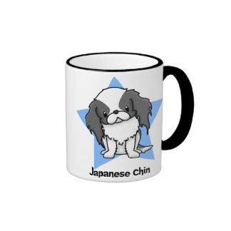 Kawaii Star Blk Japanese Chin Ringer Mug