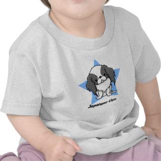 Kawaii Star Blk Japanese Chin T-shirts