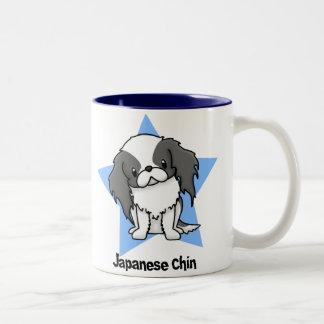 Kawaii Star Blk Japanese Chin Two-Tone Coffee Mug