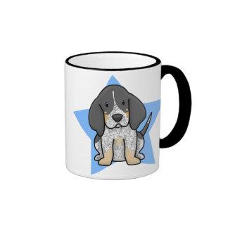 Kawaii Star Bluetick Coonhound Mug