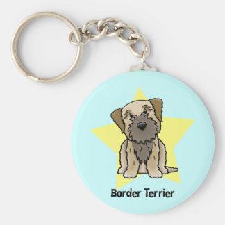 Kawaii Star Border Terrier Key Chain