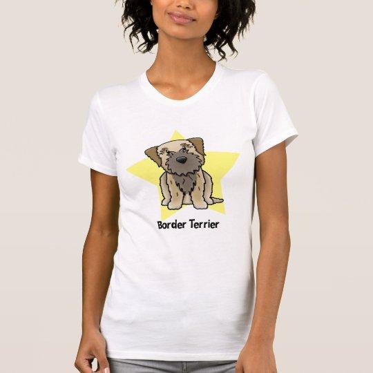 Kawaii Star Border Terrier T-Shirt