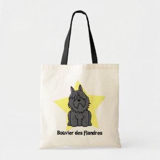 Kawaii Star Bouvier des Flandres Canvas Bag
