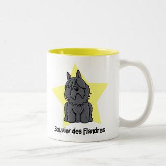 Kawaii Star Bouvier des Flandres Coffee Mug