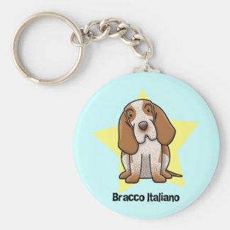 Kawaii Star Bracco Italiano Keychain