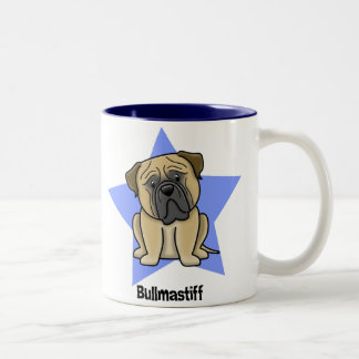 Kawaii Star Bullmastiff Two-Tone Coffee Mug