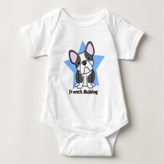 Kawaii Star BW French Bulldog Baby Creeper