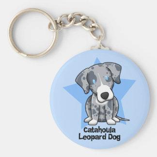 Kawaii Star Catahoula Leopard Dog Key Ring