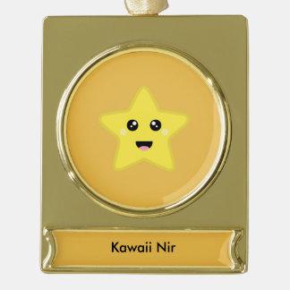Kawaii Star Gold Plated Banner Ornament