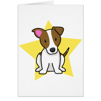 Kawaii Star Jack Russell Terrier Card