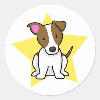 Kawaii Star Jack Russell Terrier Classic Round Sticker