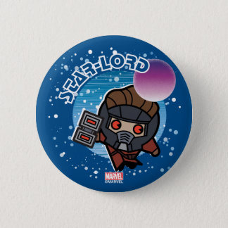 Kawaii Star-Lord In Space 6 Cm Round Badge
