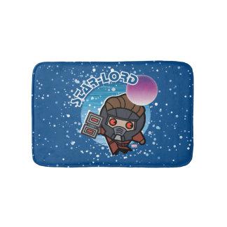 Kawaii Star-Lord In Space Bath Mat