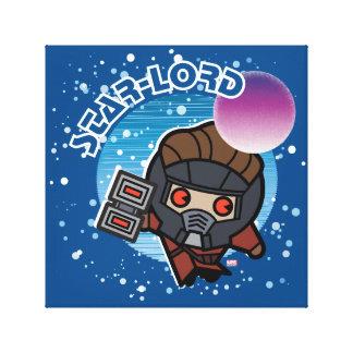 Kawaii Star-Lord In Space Canvas Print