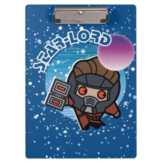 Kawaii Star-Lord In Space Clipboard