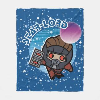 Kawaii Star-Lord In Space Fleece Blanket
