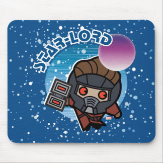 Kawaii Star-Lord In Space Mouse Mat