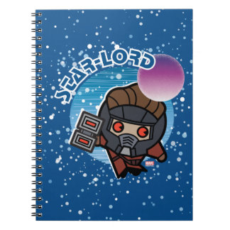 Kawaii Star-Lord In Space Spiral Notebook
